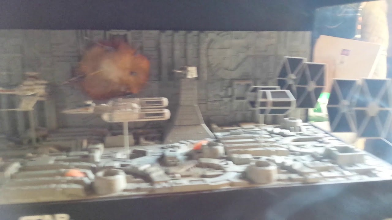 Bandai 1/144th scale Death Star Attack set diorama teaser