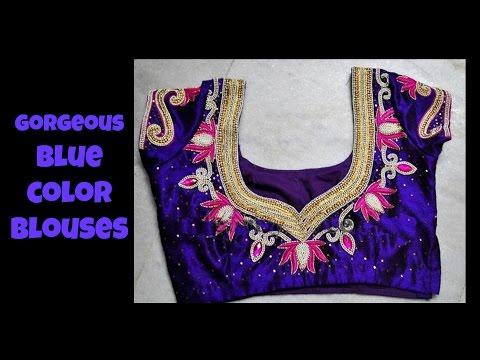 Gorgeous Blue Color Blouse Designs