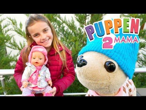 #PuppenMama - Ayça geht mit Rose und Lolli in den Garten - Wir müssen uns warm anziehen