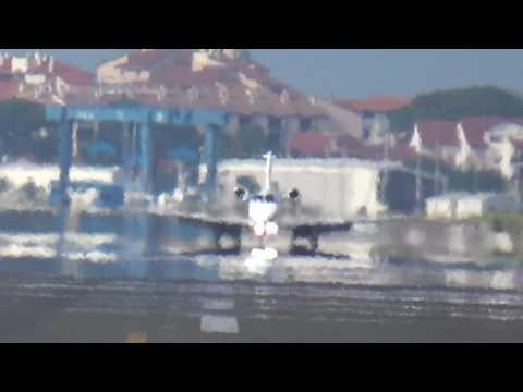 Cessna 525A Citation CJ2 (Blue Jet) SP-KCK landing at San Sebastian airport (EAS/LESO)