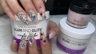 Acrylic Nails Tutorial Using Glam And Glits Acrylic System | Glam and Glits | DIY Nails