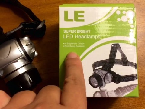 Super bright LED Headlamp (18 White/2 Red Led, 4 Brightness Levels) by Lighting Ever