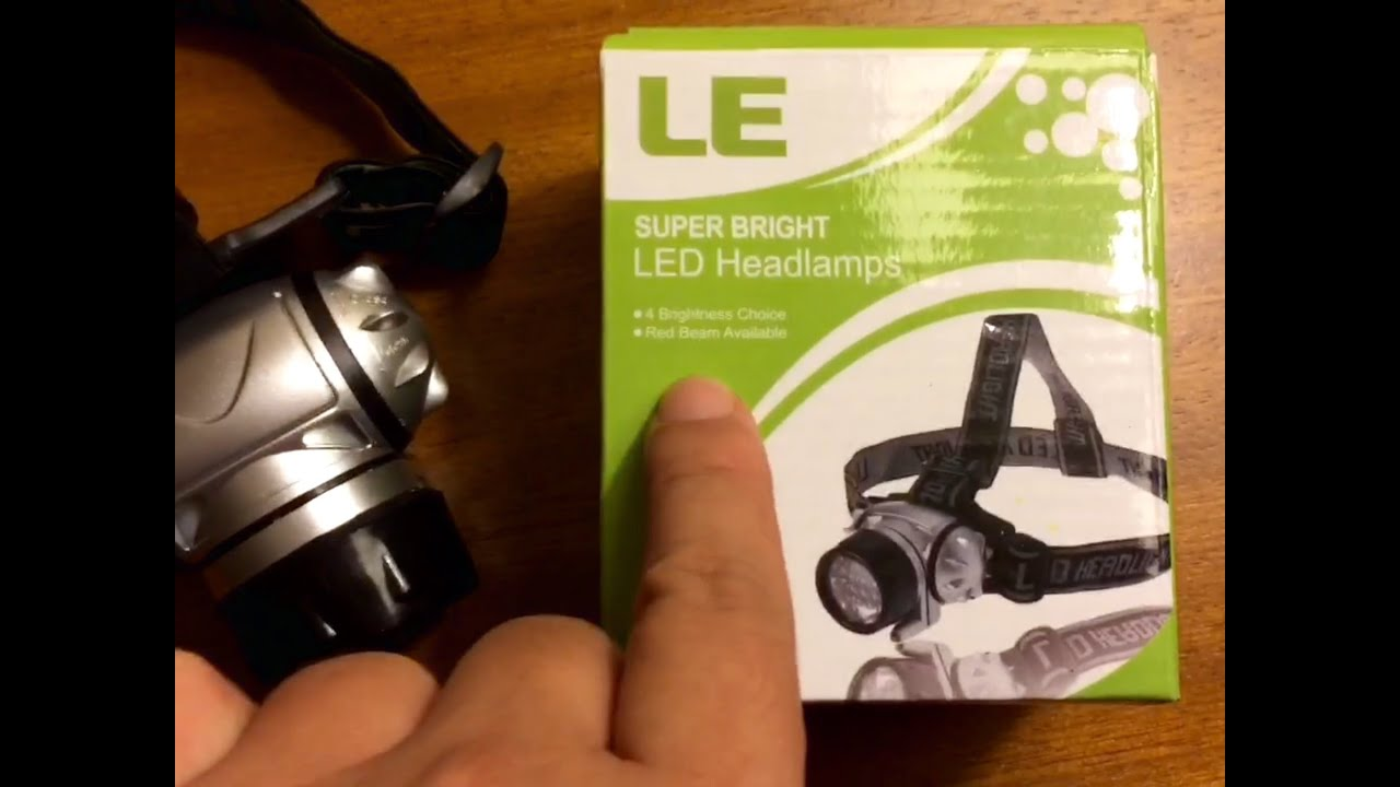Super bright LED Headlamp (18 White/2 Red Led, 4 Brightness Levels ...