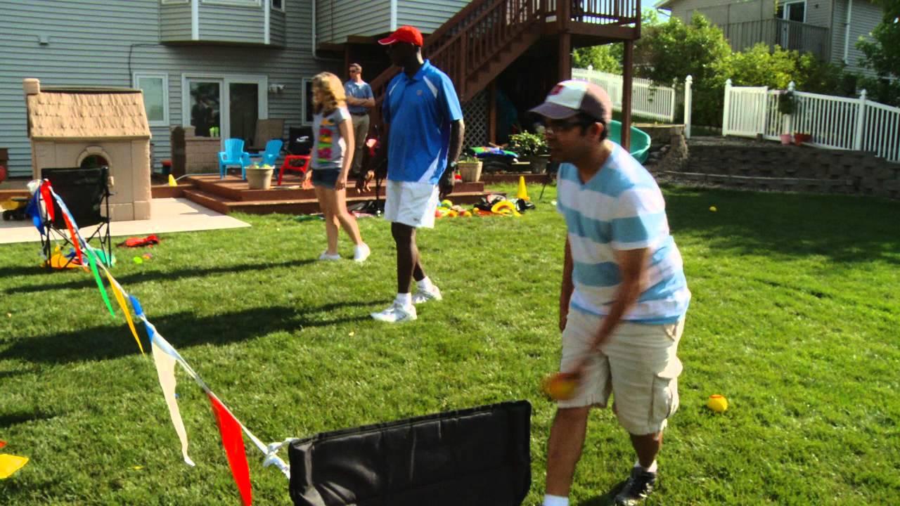 family tennis fun in your backyard youtube