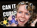 CAN IT CURL? FIDGET SPINNERS | CURLING MY HAIR WITH FIDGET SPINNERS?