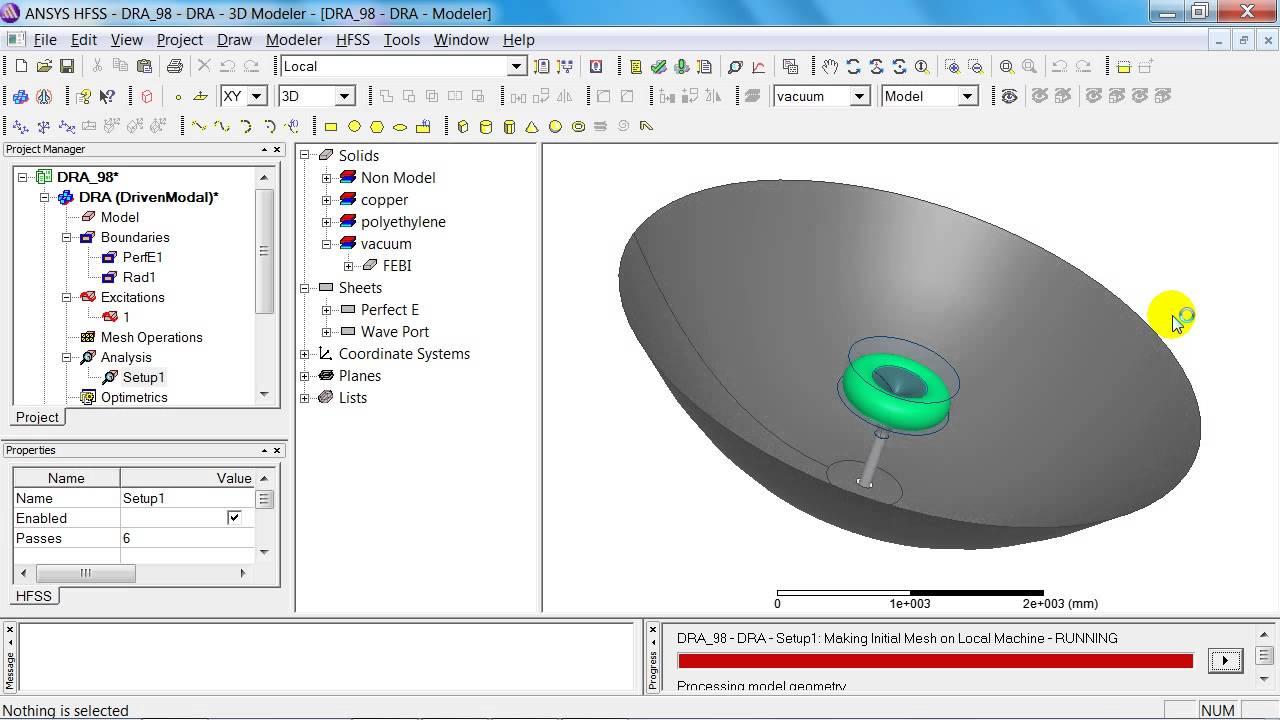 cadfem tutorial no 20 simulation of a double reflector