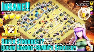 INSANE!! SUPER STRONGEST ATTACK QUEEN CHARGE BOWIPE DESTROY TH12 3-STAR( Clash of Clan )