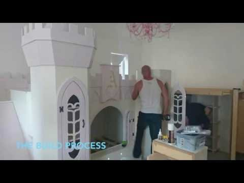 The making of Children's Princess Castle Themed Bed