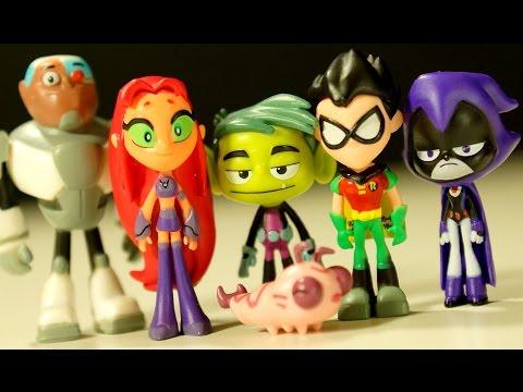 Teens Titans GO - Юные Титаны Вперёд - Игрушки и Игра про Мультик. Видео Обзор на русском