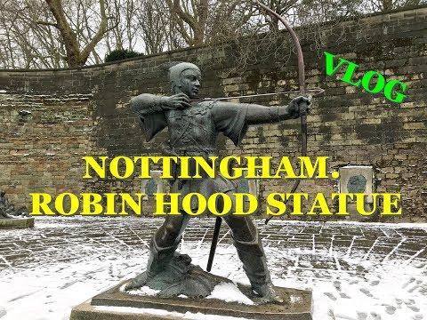 UK. VLOG. NOTTINGHAM. ROBIN HOOD STATUE || НОТТИНГЕМ. ПАМЯТНИК РОБИН ГУДУ
