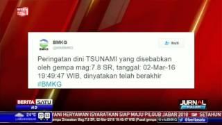 BMKG Cabut Peringatan Tsunami Gempa Mentawai