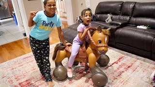 Johny Johny Yes Papa Riding Horse in the House! FamousTubeKIDS