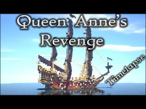 Minecraft: EPIC Pirate Ship - Queen Anne's Revenge Timelapse