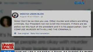 UB: Asec. Mocha Uson at Bb. Pilipinas International Mariel de Leon, nagpatutsadahan sa social media