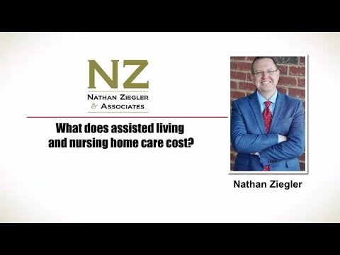 Cost of assisted living and nursing home care | Lubbock TX | Nathan Ziegler & Associates