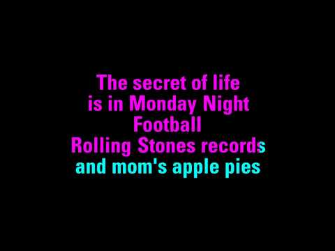The Secret of Life Faith Hill Karaoke - You Sing The Hits