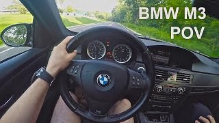 e92 bmw m3 manual launches acceleration and exhaust pov drive