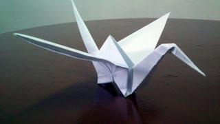 How To Make Classic Origami Crane!