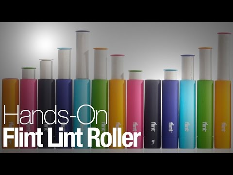 The Flint is a retractable lint roller that's cute, colorful, and kind of amazing