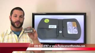 Genie GITR-3 390mhz ACSCTG Type intellicode garage door opener - www.ReplacementRemotes.com