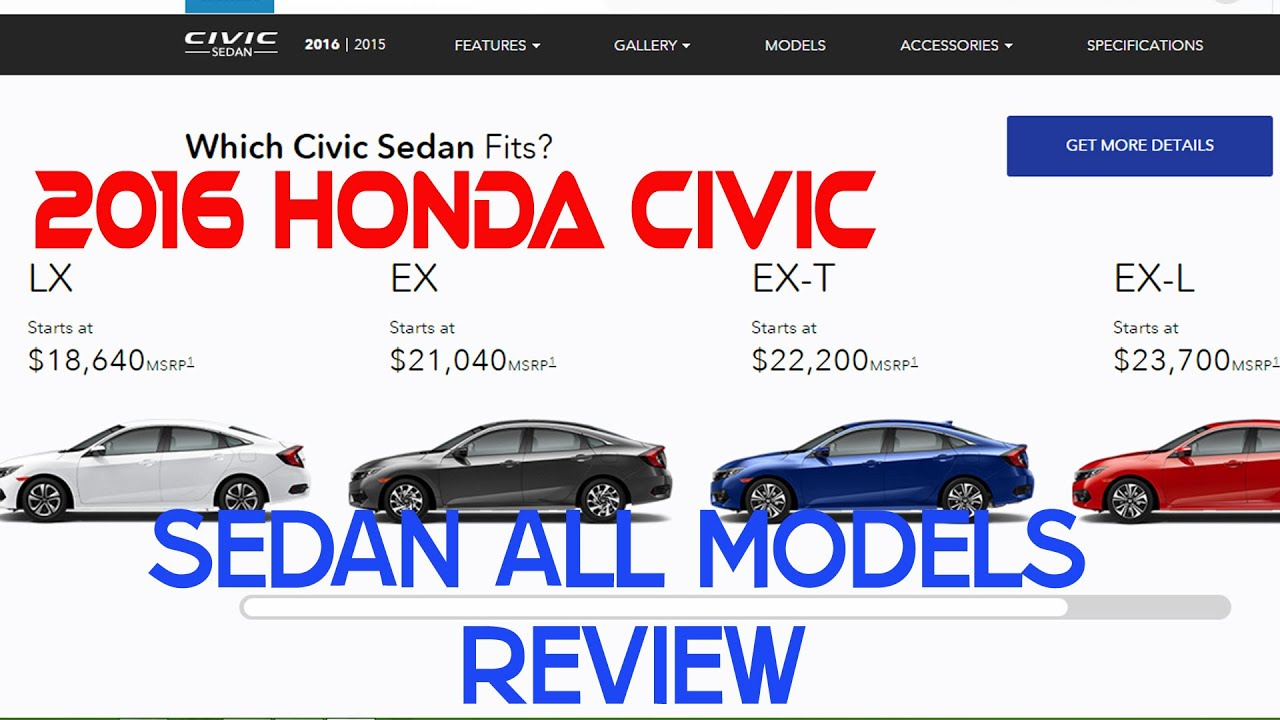 Wonderful 2016 Honda Civic Sedan All Models Reviews