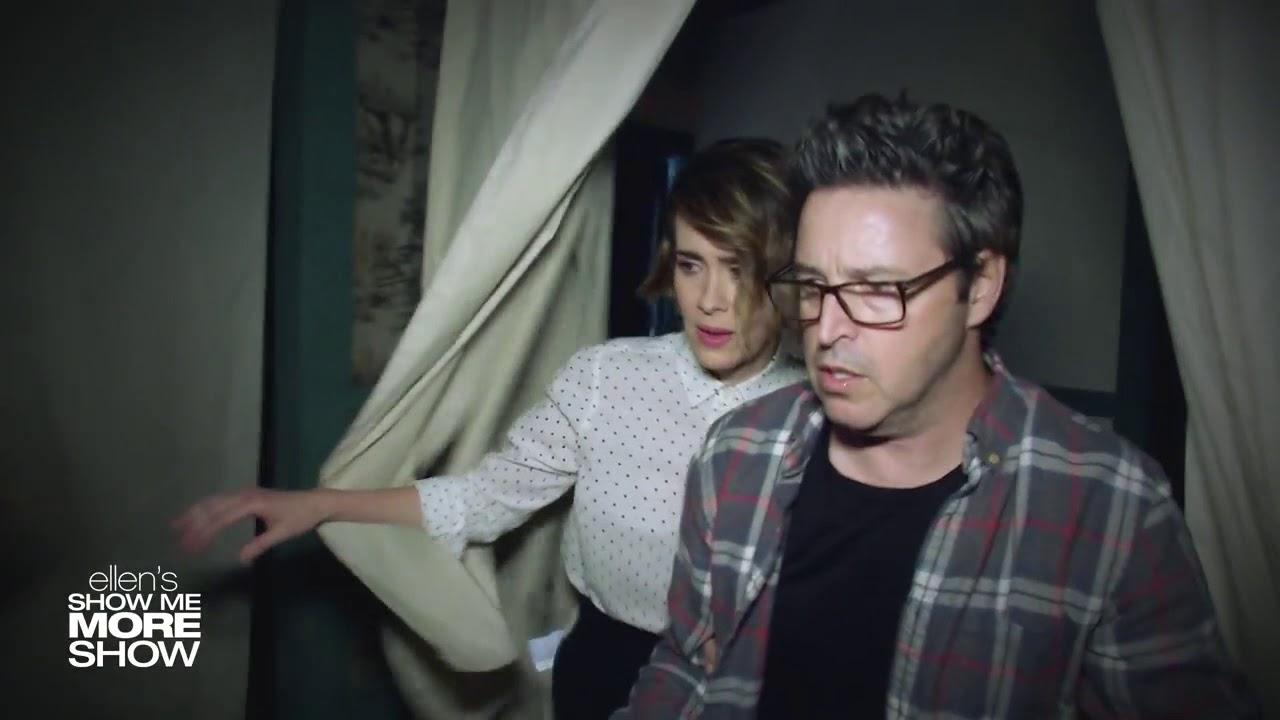 Ellen Show Sarah Paulson And Andy Lassner Scream Their Way Through