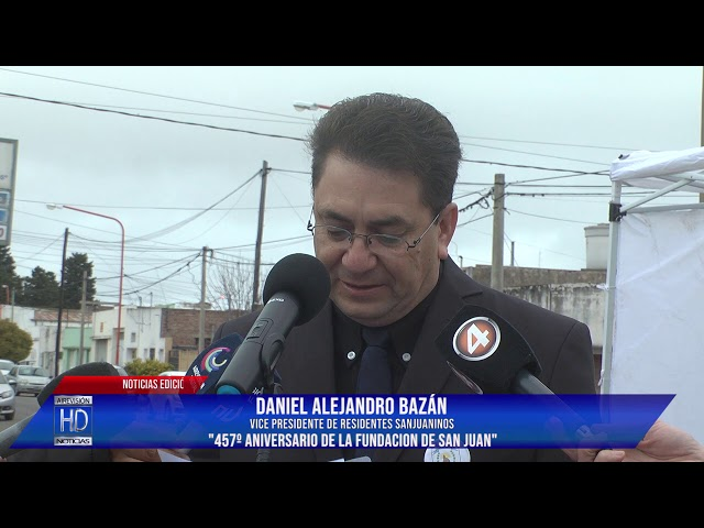 Alejandro Bazán Vicepte Sanjuaninos 457º Aniv San Juan