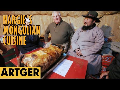Nargie's Mongolian Cuisine: GOAT BOODOG BBQ (Nargie Serves A Feast To Cool Pals)