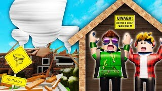 CHOWAMY SIĘ PRZED TORNADO z DOKNESEM!! - Roblox Natural Disaster Survival