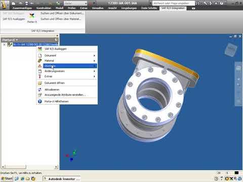 13. Direktintegration Inventor in SAP PLM mit Porta-X: Materialstücklisten löschen
