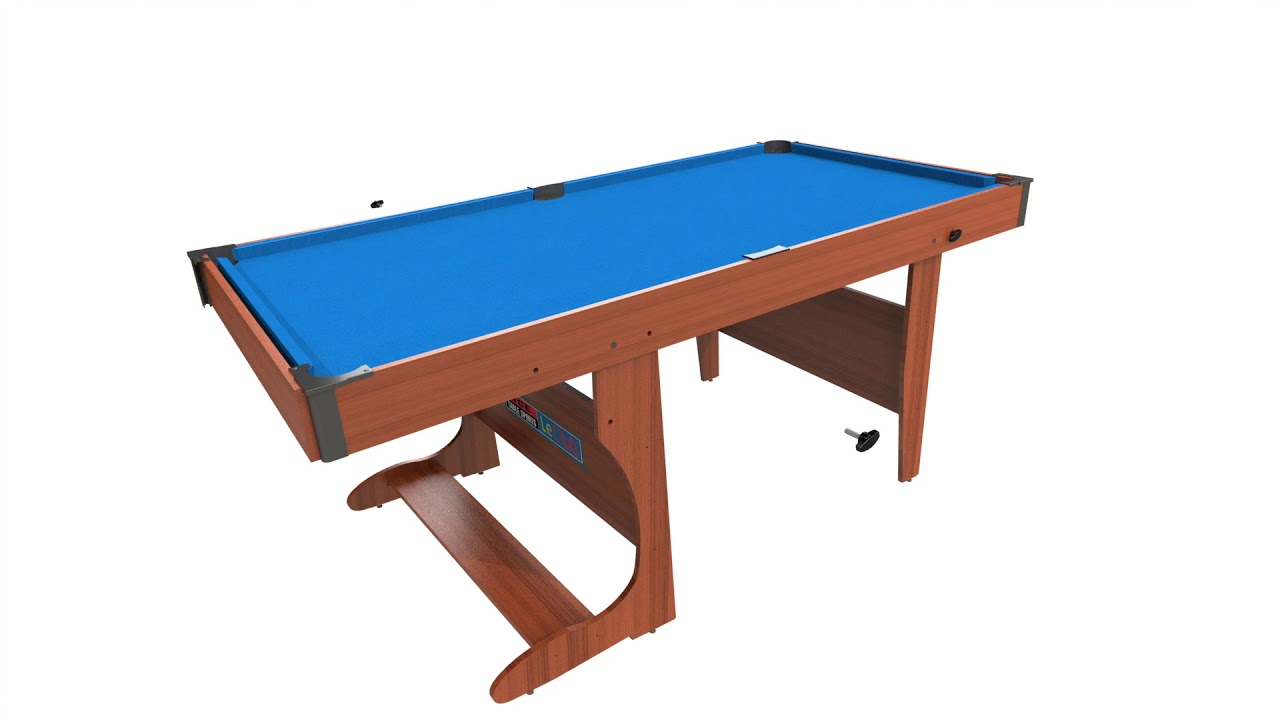 www.madfun.co.uk bce 6ft clifton folding pool table (pt20-6d) - youtube