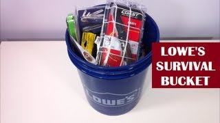 Lowe's Survival Kit - For Real? YES INDEED! | Bug Out Bucket?