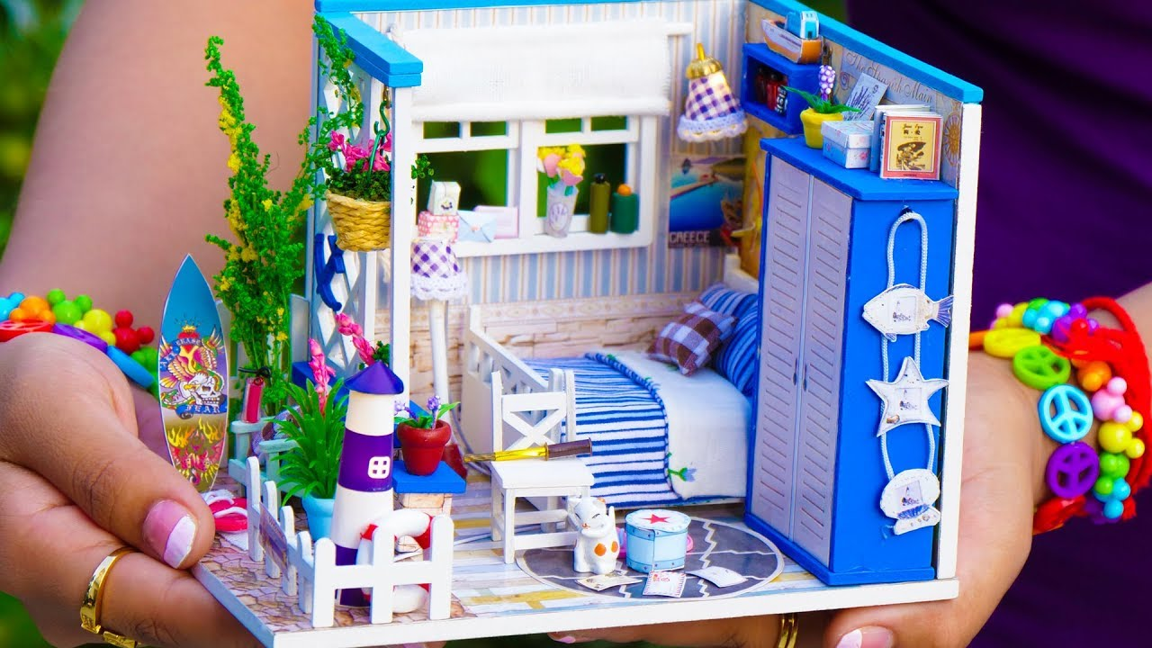 Diy Miniature Doll House Kit With Working Lights