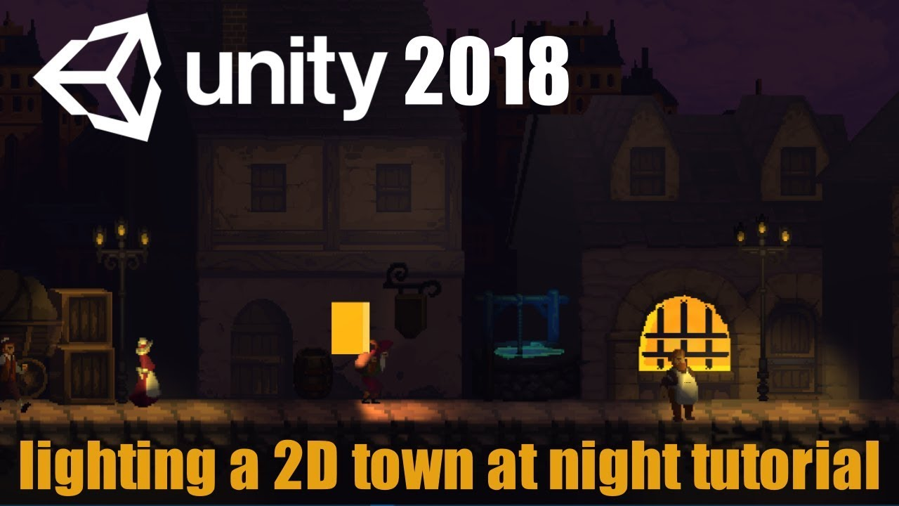 How to create dynamically lit 2d pixel art scenes with Unity