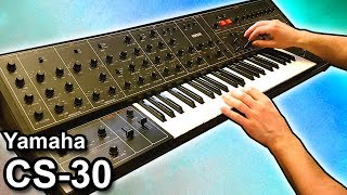 YAMAHA CS-30 -  Ambient Sequencer Percussion Jam 【SYNTH DEMO】