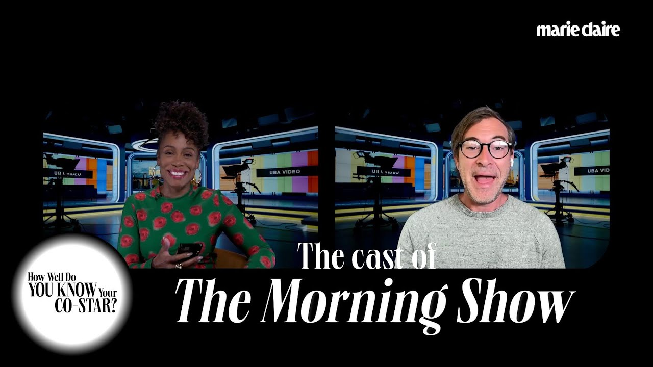 The Cast of 'The Morning Show' Plays 'How Well Do You Know Your Co-Star?' | Marie Claire