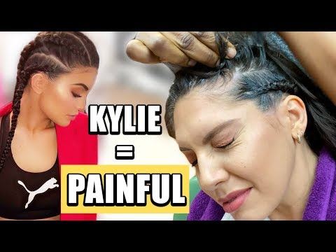 I TRIED KYLIE JENNER HAIRSTYLE (BRAIDS) Never Again !!!