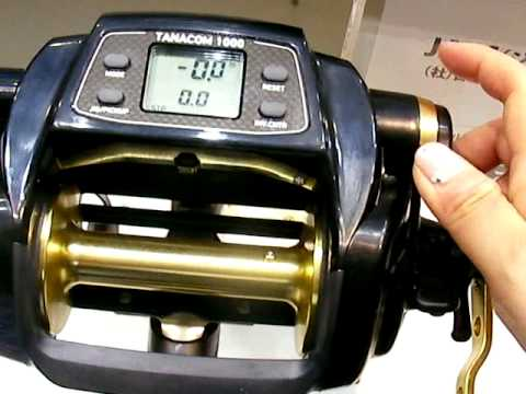 daiwa tanacom 1000 electric reel - fishing show osaka 2014 - youtube, Reel Combo