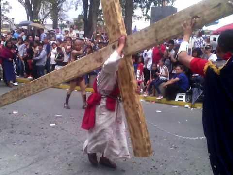 semana santa 2017 santa Ana chiautempan proyección juvenil, jeshua participantes DESCALZOS viacrusis