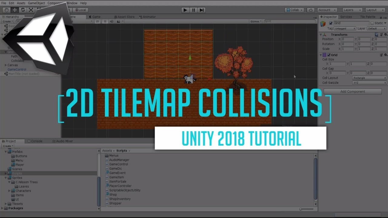 Easy 2D Tilemap Collisions | Unity 2018 Tutorial