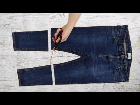 Как сшить из старых джинсов ребенку джинсы из старых джинсов