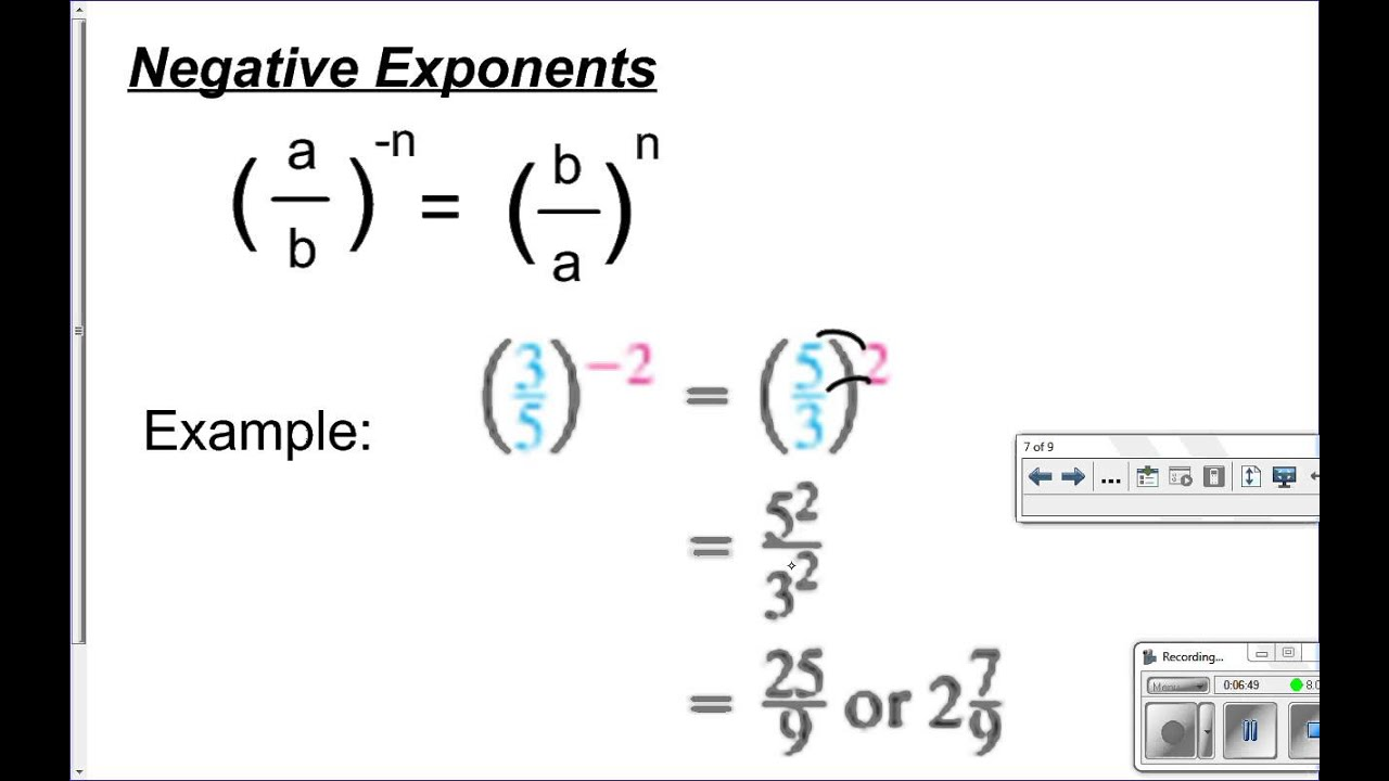 7 4 Division Property Of Exponents