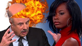 Dr Phil Shuts Down Black White Girl HARD - Treasure part 2 - React Couch