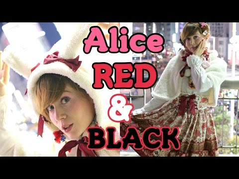 Disney Japan X Lolita Fashion ★Alice RED & BLACK Skirt And Cape By Baby The Stars Shine Bright
