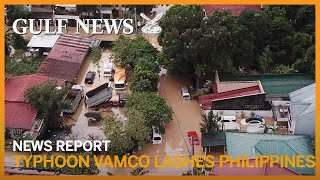 Drone footage of the aftermath of Typhoon Vamco that hit the Philippines