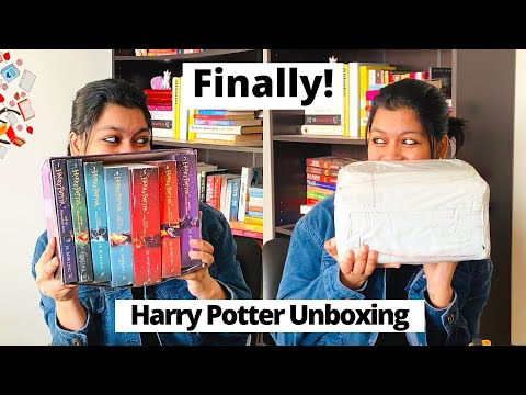 Best UNBOXING of THE HARRY POTTER BOX SET! | Unboxing COMPLETE HARRY POTTER COLLECTION |Libro Review