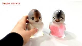 Резиновая игрушка птица Воробышек   Артикул си 343