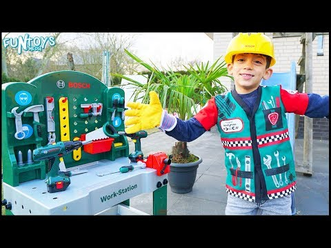 Learn Tools Names with Handyman Toys Pretend Play Set for Kids