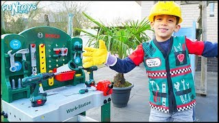 Learn Tools Names with Handyman Toys for Kids