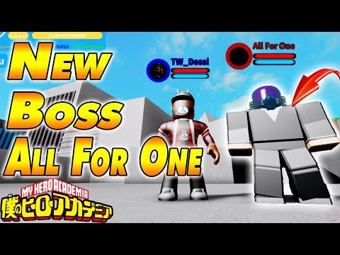 NEW ALL FOR ONE BOSS & VILLAIN BASE | Boku No Roblox